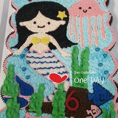 pastel cupcakes sirena