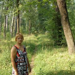 Света на аллее заброшенного парка