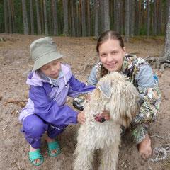 Маша и Варя с Нюшей
