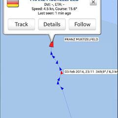 Kurs unseres Rettungsbootes abrufbar über AIS-Dienst