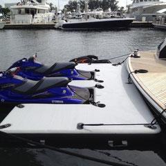 floating jetski dock for superyacht superyachtpwc.eu