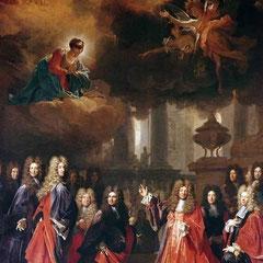 Nicolas de Largillière, Sainte Geneviève intercédant..., 1695, Paris, Saint-Etienne-du-Mont