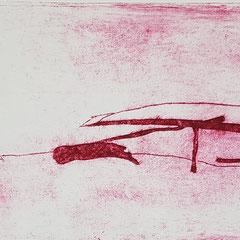 Am Mekong VII, 2017, Tetra-Pak-Radierung, 8,8 x 21,5 cm, 10 Auflagen