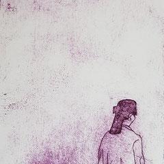 Am Mekong II, 2017, Tetra-Pak-Radierung, 21,5 x 8,8 cm, 10 Auflagen