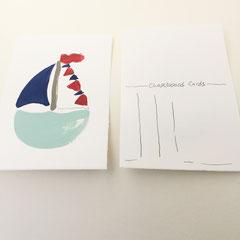 Boot Postkarte