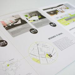 Portfolio Dorina Rundel - Grafikdesignerin: Design Offices - Infobroschüre mit Infografiken