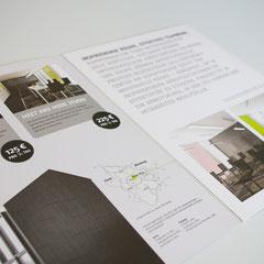Portfolio Dorina Rundel - Grafikdesignerin: Design Offices - Infobroschüre Doppelseite