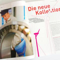 Portfolio Dorina Rundel - Grafikdesignerin: Neue Energie Magazin - Layout Text mit Grafik