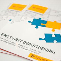 Portfolio Dorina Rundel - Grafikdesignerin: Berliner Bank, Mitarbeitermagazin Cover 1
