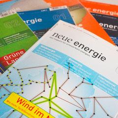 Portfolio Dorina Rundel - Grafikdesignerin: Neue Energie Magazin - Coporate Publishing