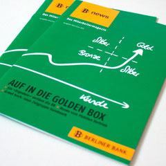 Portfolio Dorina Rundel - Grafikdesignerin: Berliner Bank, Mitarbeitermagazin Cover 2