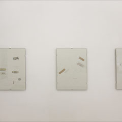 'Bandages I,II,III, IV and V' graphite, colour pencils and plasters on cartridge paper, 2006