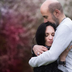 shooting photo couple en extérieur en Yvelines