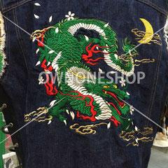Gジャン 刺繍 オリジナル 龍