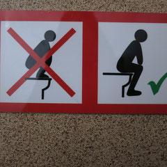 in der öffentlichen Toilette in Kuranda