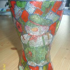 kleine Vase im Tiffany-Look; Höhe ca. 12 cm; Euro 6,00