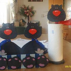 Küchenrollenhalter und Box für den Katzenliebhaber