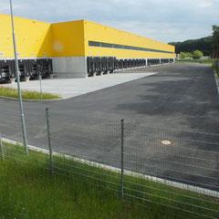 Außenanlagen Logistikhalle