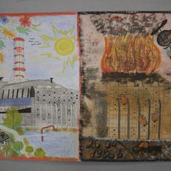 Zeichnungen von Kindern aus Tschernobyl
