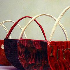 Taschen - Papier, rote Beete