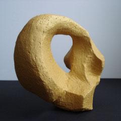 Curve Tonskulptur Seitenansicht, 20,5cm x 16,5cm