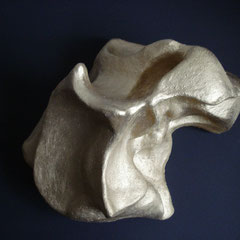 Goldberg  Tonskulptur Aufsicht, 29,6cm x 16cm
