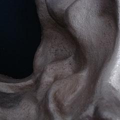 Goldberg  Tonskulptur Innenansicht Detail, 29,6cm  x 16cm
