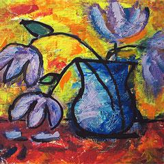 """""""i fiori di zia gina"""" acrilico su tela cm40x50"""