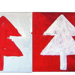 """""""...per Natale"""" acrilici su tela (5 tele da cm25x25)"""