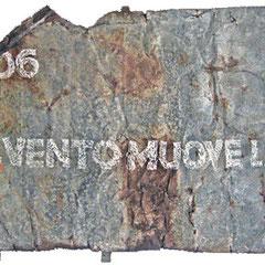 """""""appunti su lastra di ferro"""" gessetto su ferro cm147x85"""