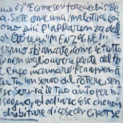 """""""Appunti sul Nulla"""" acrilici, carboncino e tratto a matita su tela (3) cm24x24 (2)"""