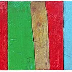 """""""colori sull'asse"""" acrilici su asse di pavimento cm13x50"""