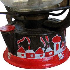 """""""base vecchia lampada ad olio"""" (ferrovie svizzere) acrilici diam. cm13,5"""