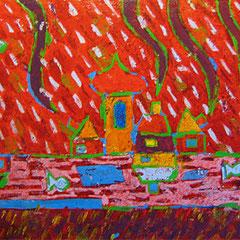 """""""scatola dei colori"""" acrilico su legno cm33.5x20"""