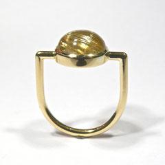 Ring Rutilquarz , Gelbgold