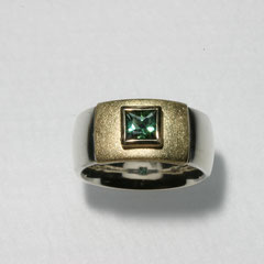 Ring Turmalin, SterlingSilber/Gelbgold