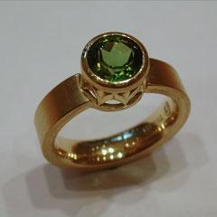 Ring Turmalin, Gelbgold