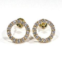 Ohrstecker Diamant 0,67ct, 750/-Gelbgold
