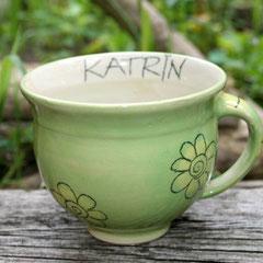 Milchkaffeetasse mit Ihrem Namen    Artikel-Nr. 1137       20,- + 3,- € Aufschlag / 400 ml