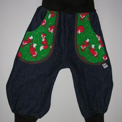Jeans mit Taschen aus Jersey, Grösse 86, fällt wie 80 aus