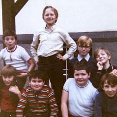 unten von links: Bernd Sonntag, Christian Weber, Jochen Stoffel, Horst Thielen, Willi Rippinger; oben von links: Jörg Brauer, Horst Haubrich, Hermann Steffen, Michael Schmitt (Schmidt?)