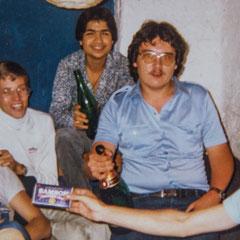 von links: Holger Hofmann, Manfred Ihrlich, Ali (Nachname leider nicht erinnerlich), Christian Weber, Michael Teixeira