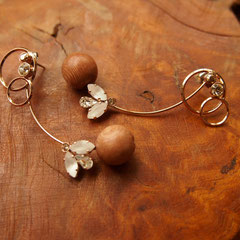 [ From me to you ] Pierce2015 material:wood(rose wood),swarovski-grass,brass