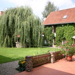 Unser Innenhof mit Brunnen