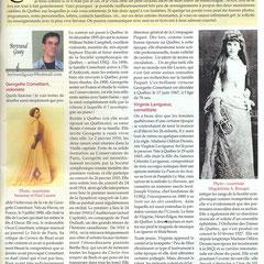 Article sur Georgette Comettant (fille de Lucien Comettant) paru dans le magazine «Infopéra» en 2007.