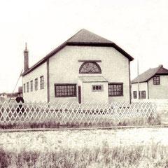 La première église de baie Ste-Claire avant qu'elle ait son clocher, 1905