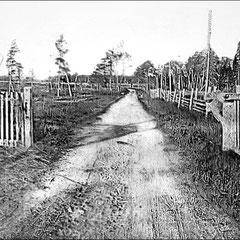 Entrée de la La ferme St-Georges, chemin du quai et du moulin à scie, baie Ellis (1908).