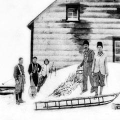 Première maison Becsie, relais de télégraphie. Joe Duguay était opérateur avant Henri Menier puis opérateur à baie Ellis.