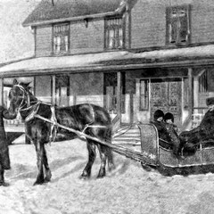 Devant la maison du gouverneur à baie Ste-Claire