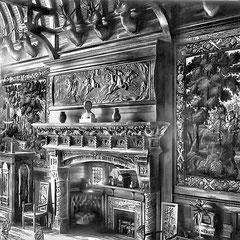 En juin 1905 Menier fit débarquer de la «Bacchante» 12 têtes de cerfs provenant de sa chasse à cours de Villers-Cotterêts. Elles furent installées sur les chapiteaux de poutres d'oû s'élevaient douze arceaux qui supportaient la toiture de la grande salle